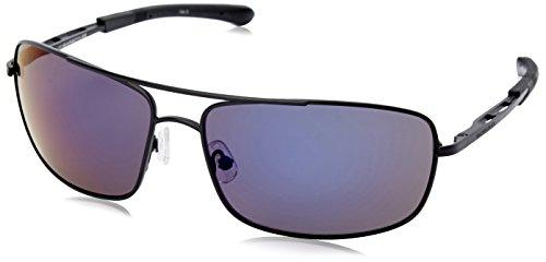 Gargoyles Barricade Polarized Wrap Sunglasses, Matte Black,Smoke & Blue, 63 - Sunglasses Polarized Gargoyle