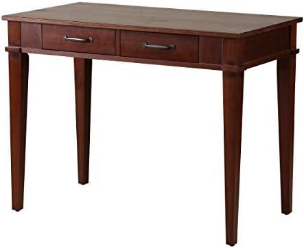 Amazon Brand Rivet Classic Desk, 39.4 W, Dark Espresso