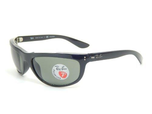 601 58 Black Polarized Crystal - Ray Ban Balorama RB4089 601/58 Black/ Crystal Green 62mm Polarized Sunglasses