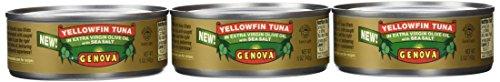 Genova Yellowfin Tuna in Extra Virgin Olive Oil with Sea Salt, 5 Ounce (Pack of (Genova Tuna)