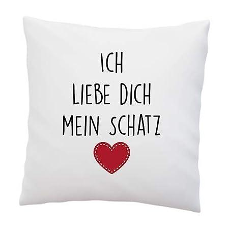 Liebtastisch Amor Almohada con Mensaje Ich Liebe Dich Mein ...
