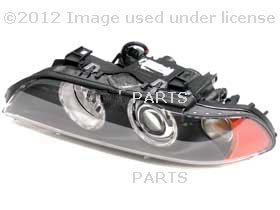 BMW OEM Headlight Xenon Left, White Turn Indicator, for 525i, 528i, 530i, 540i, 540ip, M5 By Hella
