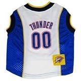 "NBA Dog Jersey Size: Small (11"" H x 9"" W x 0.5"" D), NBA Team: Oklahoma City Thunder"
