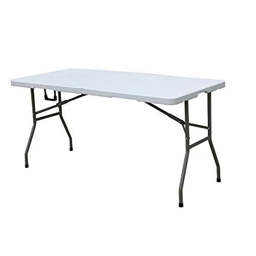 soges Folding Table 48 by 24 inch, Portal Outdoor Folding Utility Table for Garden, Beach, Camping, Picnics, Cookouts, Party, Weatherproof, No Assemble and Easy to Carry, HL-Z122