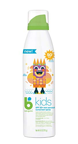 - Babyganics Kids Sunscreen Continuous Spray 50 Spf, 6 Ounce, Pack of 2