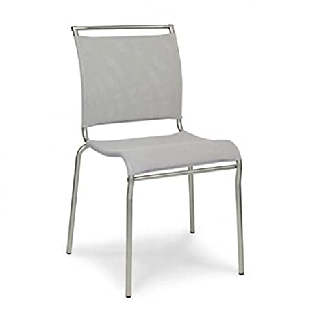 Sedia Air Calligaris.Calligaris Air Set Of 2 Chairs Satinato Grigio Amazon Co Uk