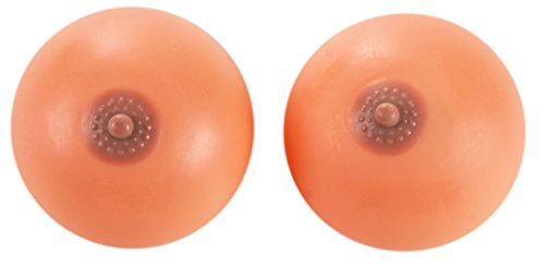 Stress Ball - 2-Pack Boobs Stress Reliever Ball, Fake Breasts Toy Squeeze Ball, Novelty Gag Gift, 4 x 3.5 x 4 Inches