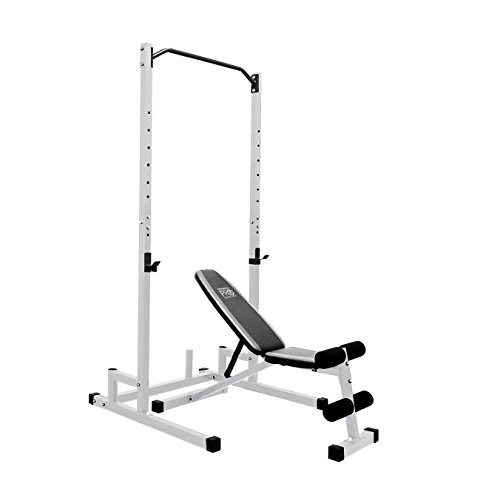 Marcy Home Gym Workout Fitness Exercise Power Cage and Weight Lifting Bench by Marcy Fitness