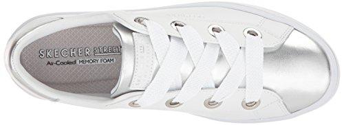 Silver Skechers Sneaker into Hi Lite Women White Toe Metallic Street TwSTqzWnrZ