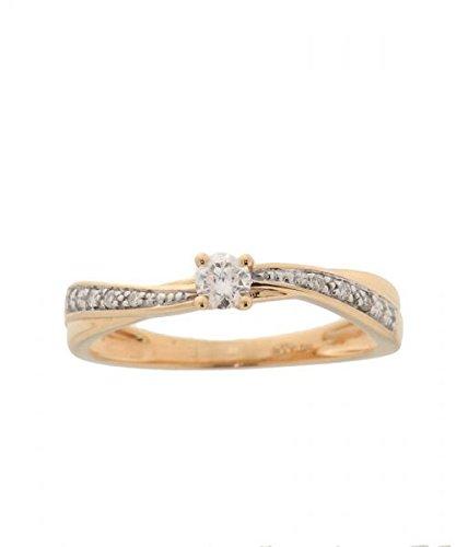 Bague Or 750 Diamant ref 35946