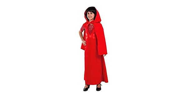 DISBACANAL Disfraz de hechicera roja para niña - -, 6 años: Amazon ...