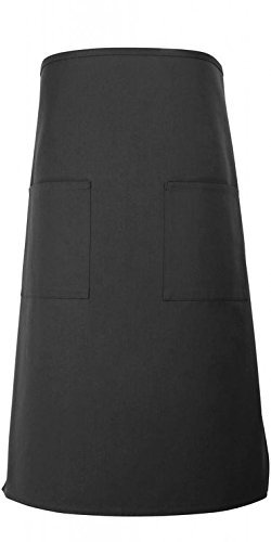 Sunrise Unisex Long Bistro Apron w/ 2 Pockets 31''L By 30.5''W (Black, 24) by Sunrise Kitchen Supply