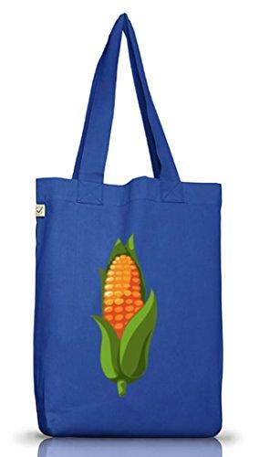 ShirtStreet Maiskolben Kostüm für Mais Fans Getreide Verkleidung Karneval Fasching Dschungel Camp Bright Blue
