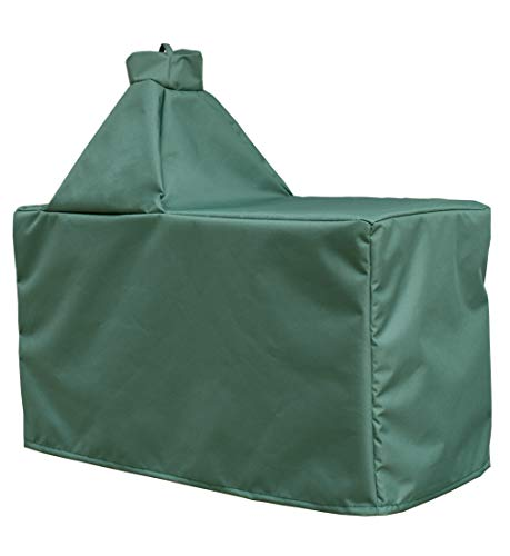 Mini Lustrous Cover for Large Big Green Egg, Large Ceramic Egg Type Kamado Table Cover with Heavy Duty and Waterproof Fabric, Large (Grill Green Egg)