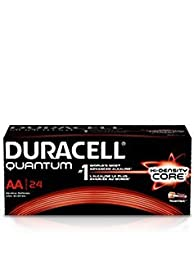 Duracell Quantum QU1500BKD09 Alkaline-Manganese Dioxide AA Battery, 1.5V, -4 to 130 Degrees F (Pack of 24)