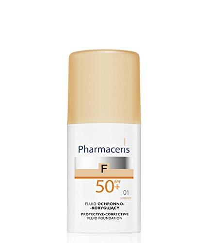 (PHARMACERIS - Protective-Corrective Fluid Foundation with Highest Level of Sun Protection SPF 50+ 01 Ivory - 30)