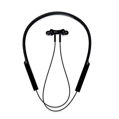 SHOPTOSHOPNeckband Bluetooth Wireless Headset with Mic for All Smartphones Black …