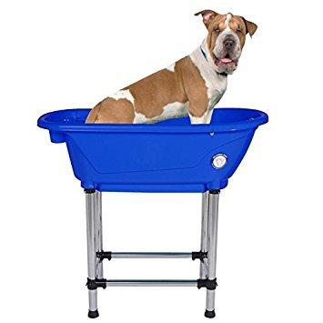 Flying Pig Pet Dog Cat Portable Bath Tub (Royal, 37.5''x19.5''x35.5'') by Flying Pig Grooming
