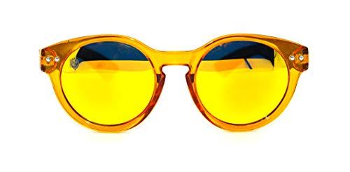 Óculos de Sol de Acetato com Bambu Jasmine Yellow, MafiawooD