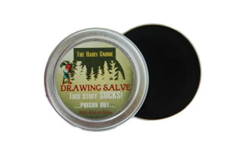 (The Hairy Gnome Drawing Salve, This Stuff Sucks! Poison Out. Handmade with Organic Ingredients, 1 oz. Old Timey Plantain and Pine Tar Recipe for Infections, Splinters, and Boils. (1))