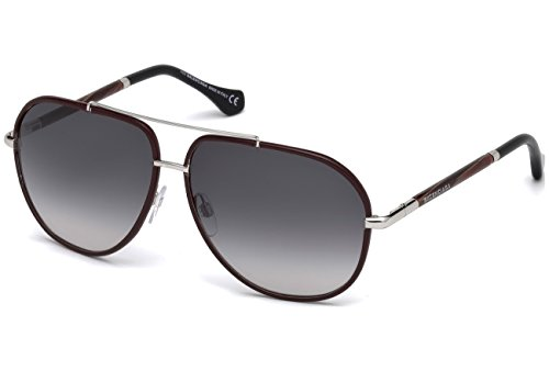 Sunglasses Balenciaga BA 0062 69B shiny bordeaux / gradient smoke