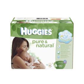 Huggies Pure And Natural Diapers Newborn Giga Jr 88 Count