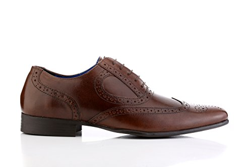 Red Tape Mens Carlow Brown Brogue Oxford Lace Up Formal Shoe