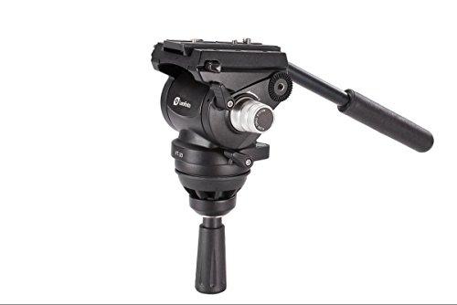 LEOFOTO VT-20 Video Head 75mm Half Ball Fluid Drag / Manfrotto Compatible For 75 Bowl Tripod