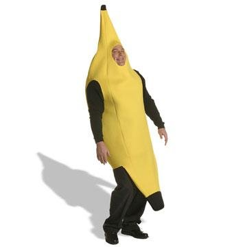[Deluxe Banana Costume - Plus Size - Chest Size 50-52] (Banana Deluxe Adult Costumes)