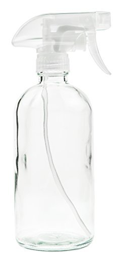 Glass Spray Bottle - Empty Refillable 16 oz Container is Great for Essential Oils, Cleaning Products, Homemade Cleaners, Aromatherapy, Misting Plants with Water, and Vinegar Mixtures for ()