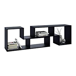 DEVAISE 3-in-1 Versatile TV Stand Bookcase Display...