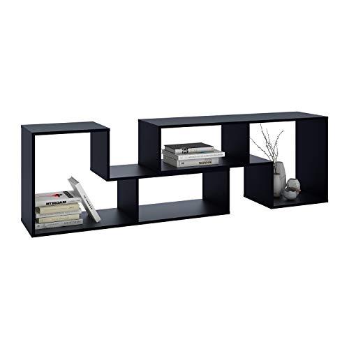 (DEVAISE Versatile TV Stand, Entertainment Center Console, Bookshelf for Living Rooms, Black)