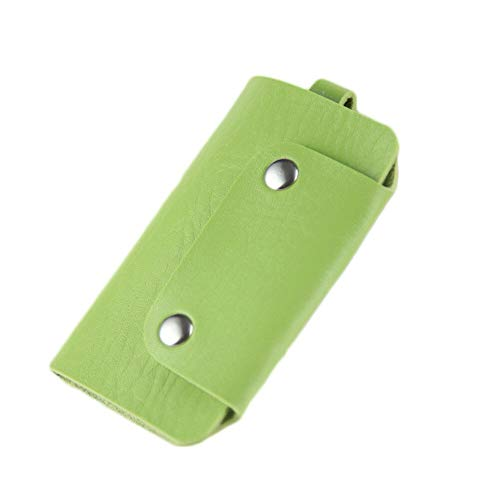 (1PC Leather Housekeeper Holder Car Keychain Key Holder Bag Case Wallet Cover C98 (Color -)
