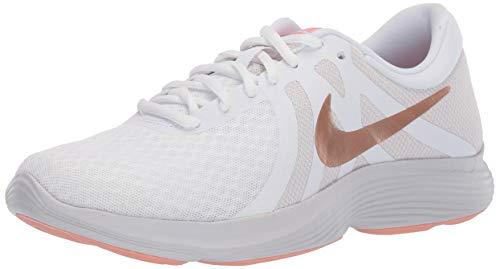 (Nike Women's Revolution 4 Sneaker, White/Metallic red Bronze-vast Grey, 7.5 Regular US)