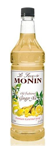 Monin Old Fashioned Ginger Ale Syrup bottle 1 Liter (33.8 fl oz) - Ginger Ale Flavor