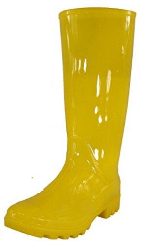 Womens Classic Rain Boot With Buckle (9 , Yellow Rain)