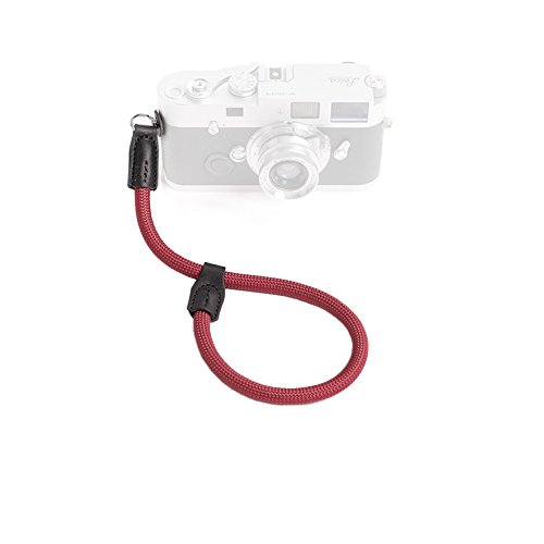 Cam-in Outdoor Series High Strength Climbing Rope Camera Wrist Band Suitable for Round Hole Interface Cameras (Wine Red)