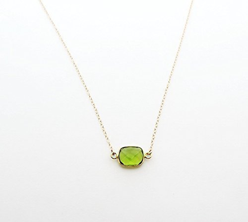 2875ac8e2992a Peridot August Birthstone Choker Necklace, Bridesmaid Gift, Best Friend  Necklace, Bridal Necklace,