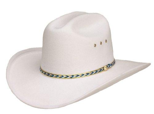 Kids White Faux Felt Cowboy Hat (Wyatt Earp Costume)
