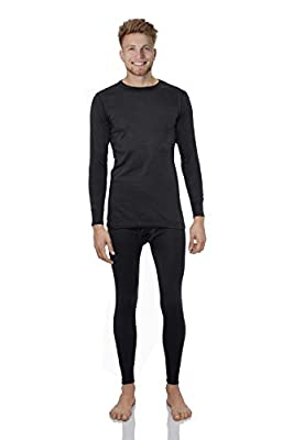 Rocky Thermal Underwear for Men Fleece Lined Thermals Men's Base Layer Long John Set