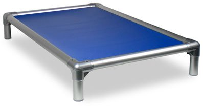 Kuranda All-Aluminum (Silver) Chewproof Dog Bed - XL (44x27) - 40 oz. Vinyl - Royal Blue