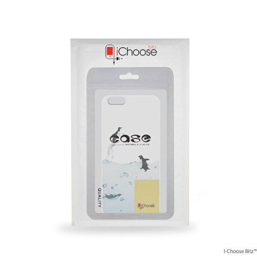 Animales Funda/Cubierta del Teléfono para Apple iPhone 5 5s SE con Protector de Pantalla / Silicona Suave de Gel/TPU / iCHOOSE / Delfín Pingüino