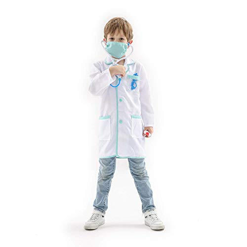 Honey Box Doctor Role Playing Costume for Child Halloween Cosplay Costumes for Kids (3-5 -