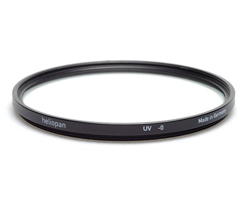 Heliopan 58mm UV Filter (705801) with specialty Schott glass in floating brass ring