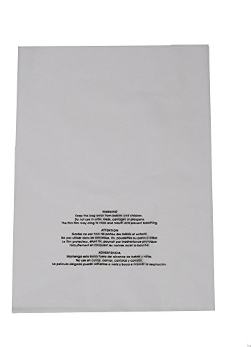 """U-Line 9""""x 12"""" Clear 2-mil Poly Bags with Suffocation War..."""