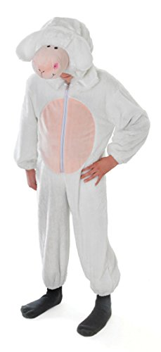 (Bristol Novelty CC048 Sheep Costume, Medium, 128 cm, Approx Age 5 - 7 Years, Sheep)