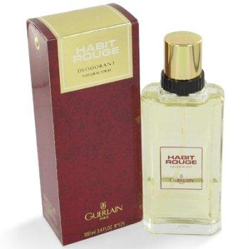 Habit Rouge by Guerlain for Men 3.4 oz Deodorant Spray (Glass Bottle)