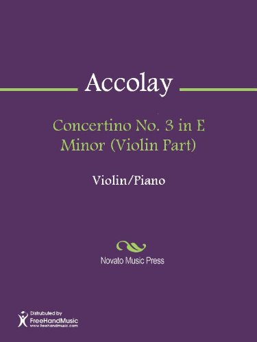 Concertino No. 3 in E Minor (Violin Part)
