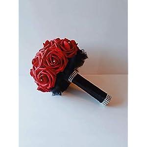 red bouquet red bouquet for wedding red bouquet for bride red bouquet of flowers for wedding red bouquets for bridesmaids red bouquet of flowers red bouquet bridal bridal bouquet wedding gothic goth 35