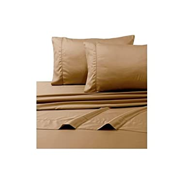 #1 Bed Sheet Set - HIGHEST QUALITY 100% Egyptian Cotton 800 Thread-Count Queen Size Wrinkle, Fade, Stain Resistant - 4 Piece 16  Drop -By Rajlinen  (Taupe Solid, Queen)